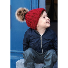 Infant Fur Pom Pom Chunky Beanie